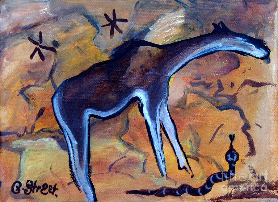 Rock Art No 2 Beast And Adder Painting  - Rock Art No 2 Beast And Adder Fine Art Print