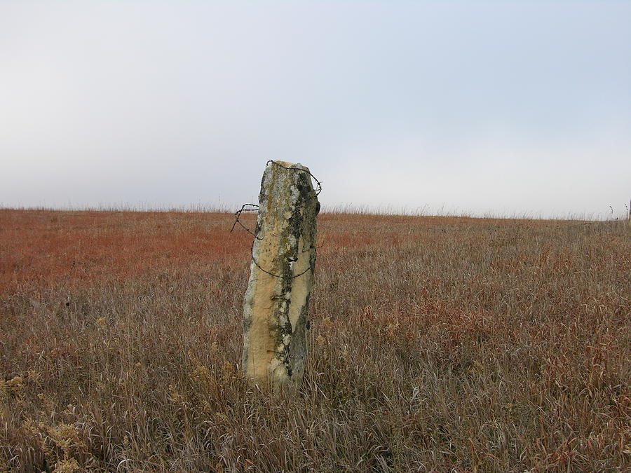Rock Fence Post Photograph
