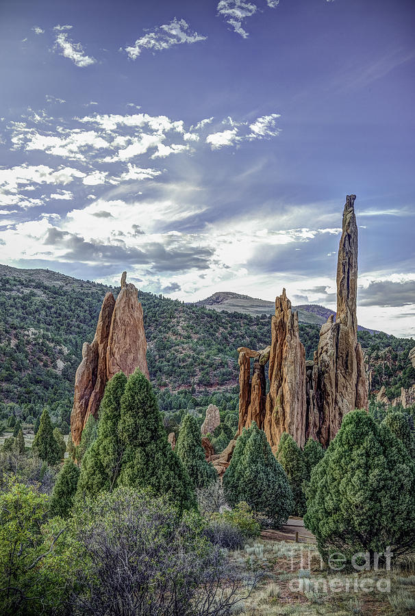 Rock Formation Garden Of The Gods Photograph