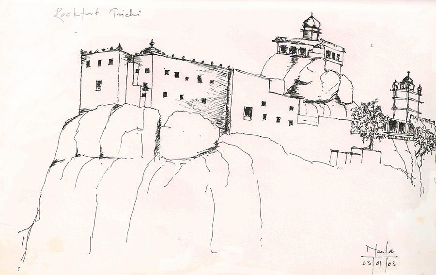 how to draw a fort