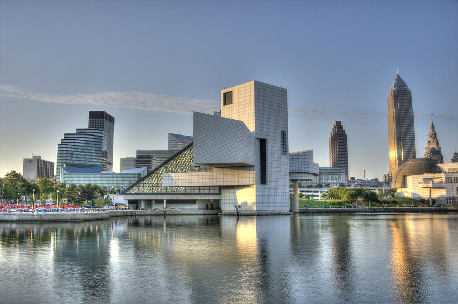Rock Hall And Cleveland Photograph  - Rock Hall And Cleveland Fine Art Print