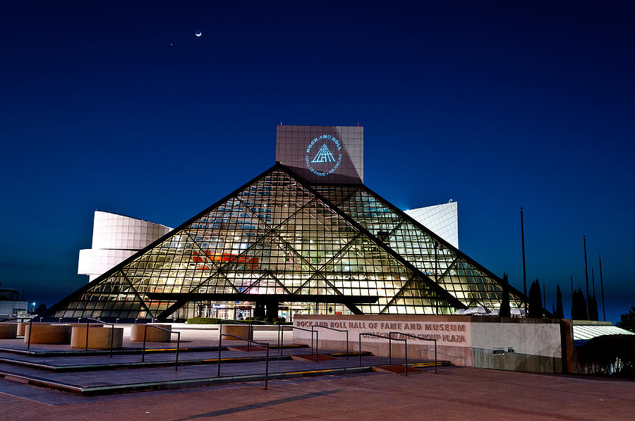 Rock Hall At Night Photograph