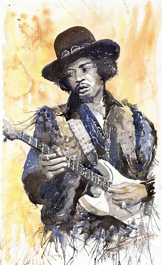 Rock Jimi Hendrix 01 Painting