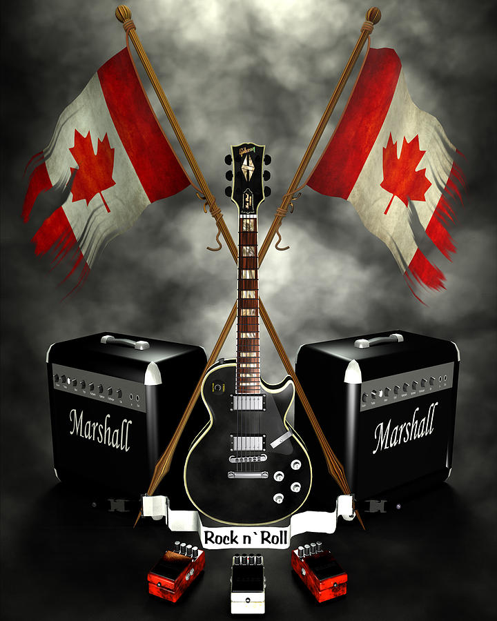 Rock N Roll Crest- Canada Digital Art