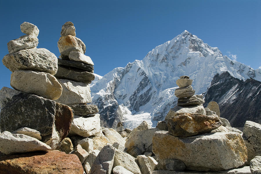 Rock Piles In The Himalayas Photograph  - Rock Piles In The Himalayas Fine Art Print