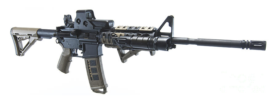 Rock River Arms Ar-15 Rifle Equipped Photograph