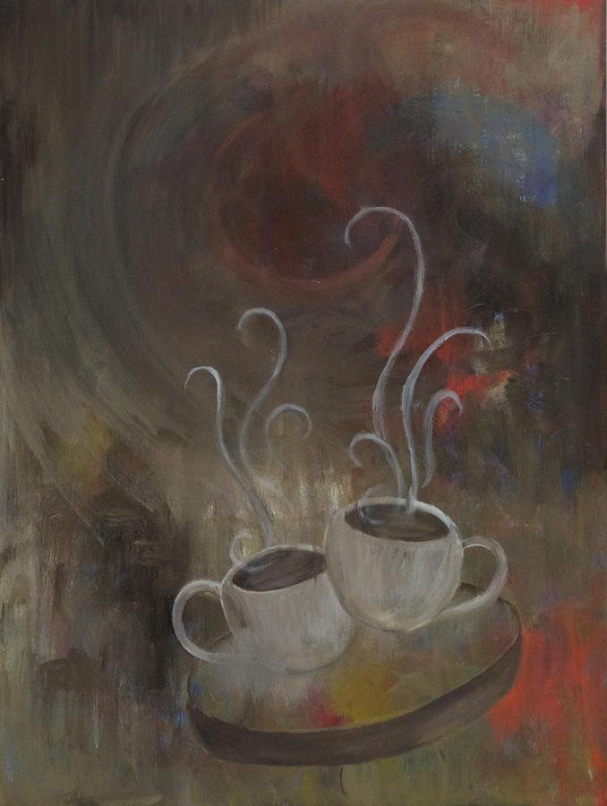 Rocket Coffee Painting