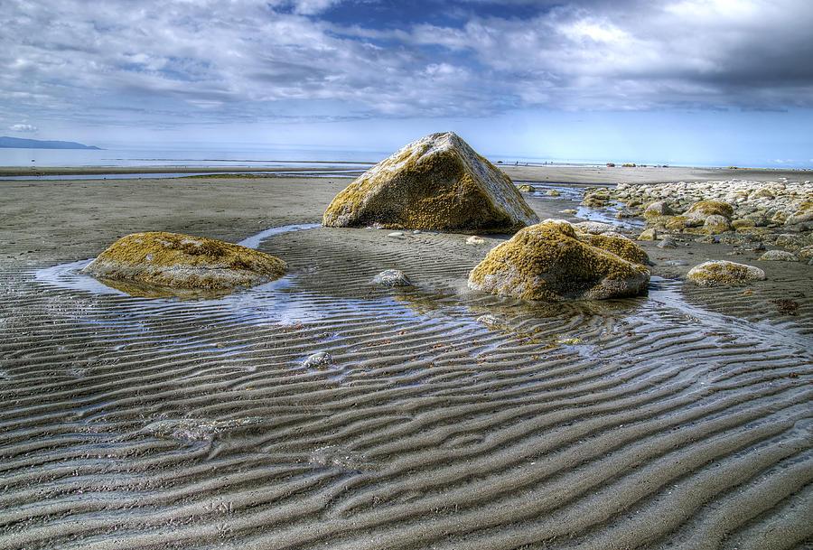 Rocks Photograph - Rocks And Sand by Michele Cornelius