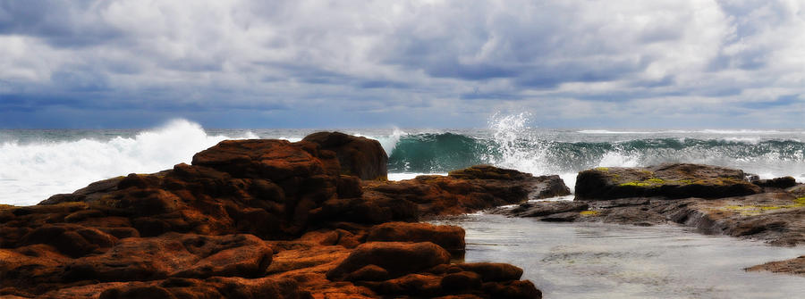 Landscapes Photograph - Rocks And Surf by Phill Petrovic