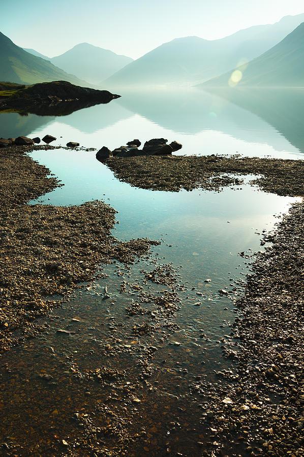 Bay Photograph - Rocks On The Beach by Svetlana Sewell