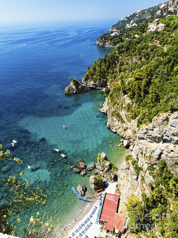 Rocky Amalfi Beach Photograph