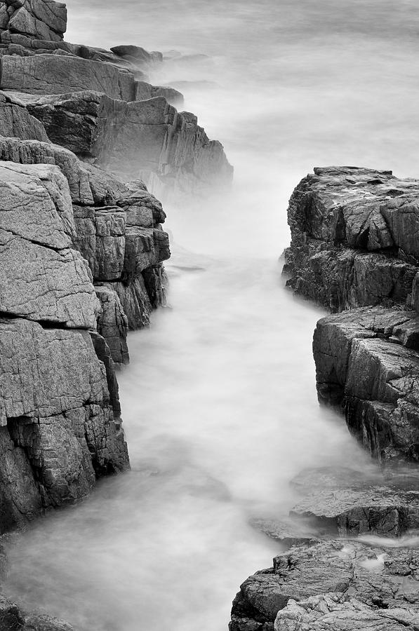 Rocky Coast Of Acadia - No 2  Photograph