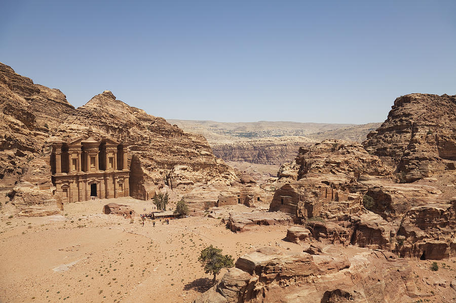 Rocky Landscape With The Monastery Petra Photograph