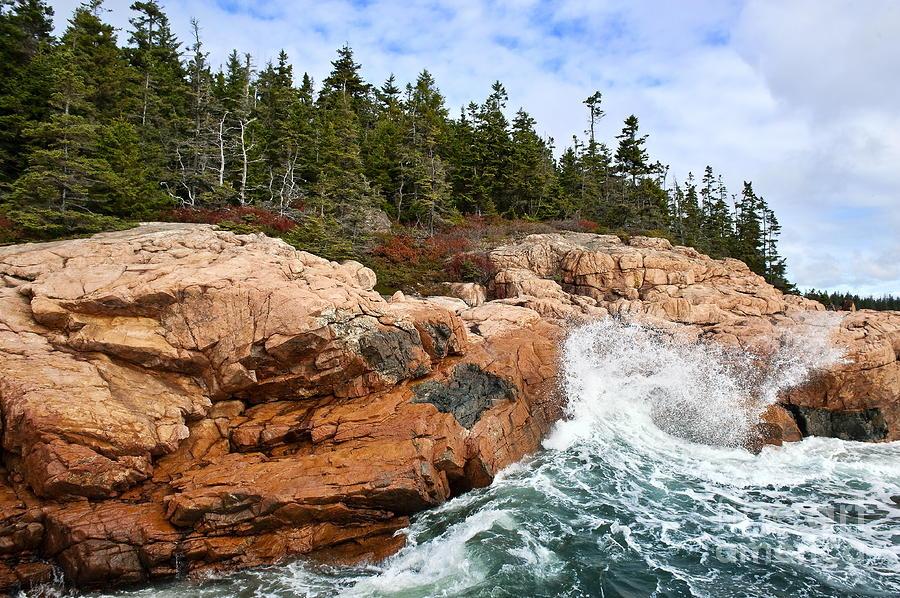 Rocky Maine Coastline Photograph By John Greim