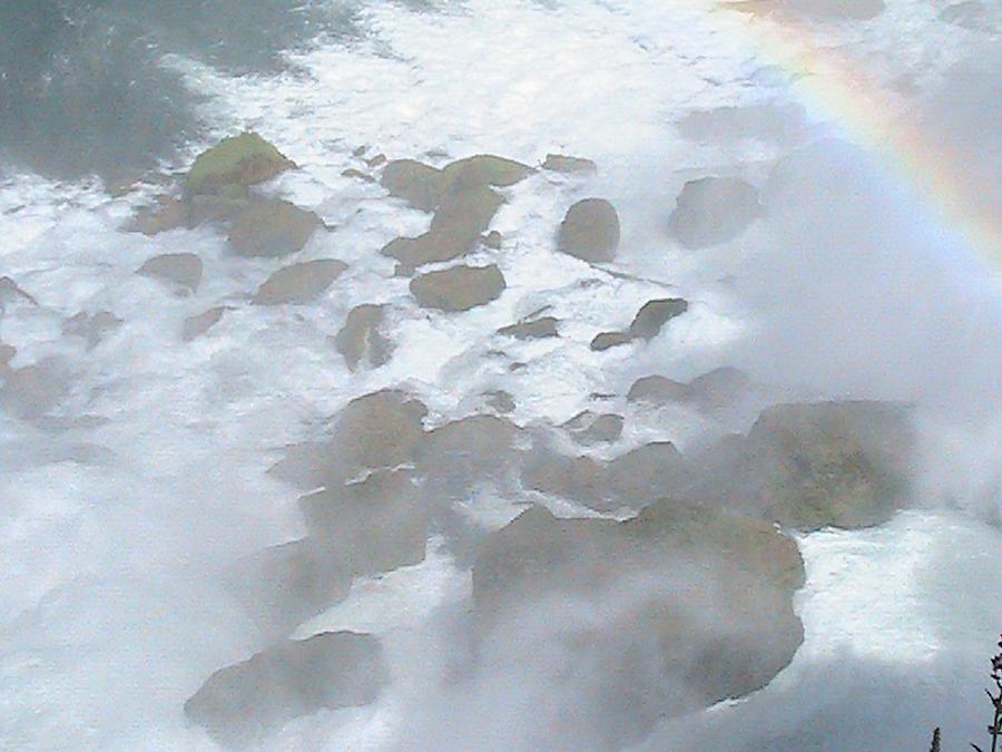 Waterfall Photograph - Rocky Mist by Rachel Snell