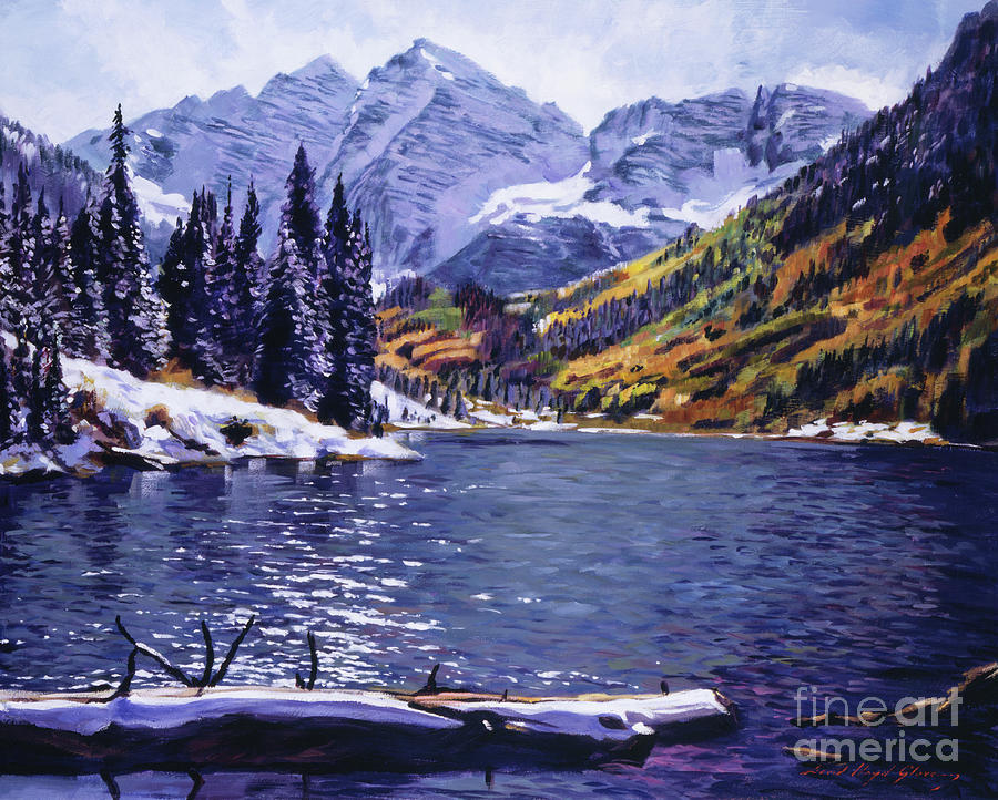 Rocky Mountain Serenity Painting  - Rocky Mountain Serenity Fine Art Print