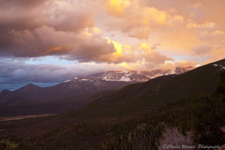 Rocky Mountain Sunset Photograph  - Rocky Mountain Sunset Fine Art Print