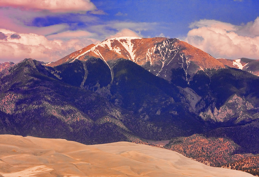 Rocky Mountains And Sand Dunes Photograph