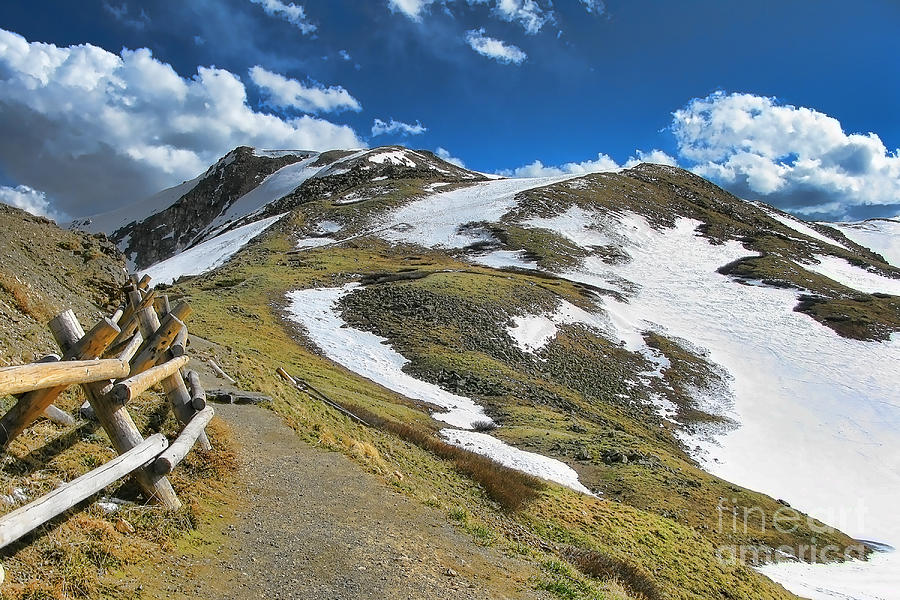 Rocky Mountains Path Photograph  - Rocky Mountains Path Fine Art Print