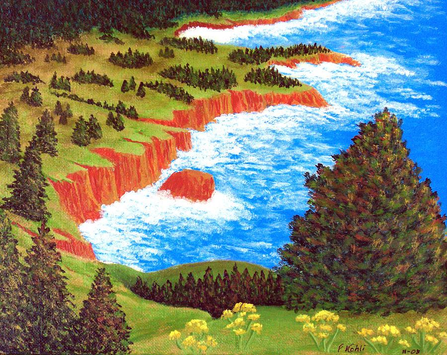 Rocky Oregon Coast Painting