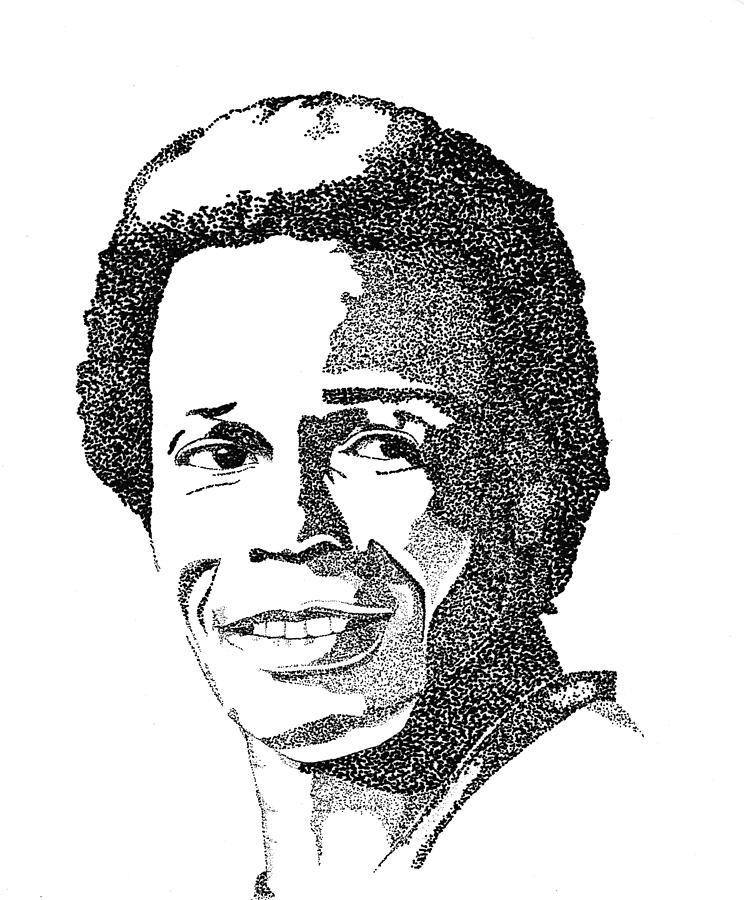 Rod Carew Sports Portrait Drawing  - Rod Carew Sports Portrait Fine Art Print