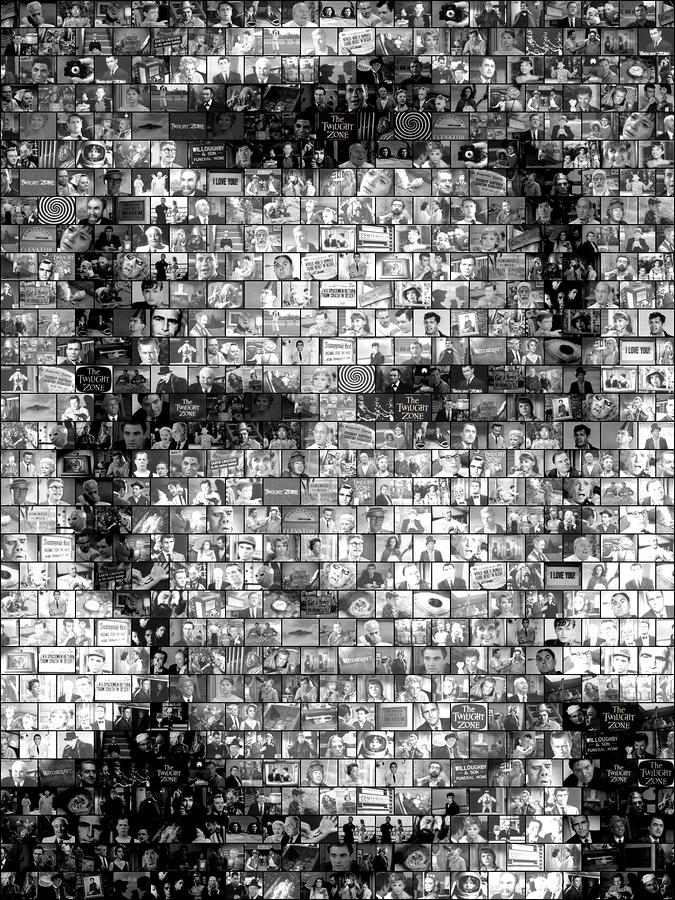 Rod Serling Twilight Zone Mosaic Mixed Media  - Rod Serling Twilight Zone Mosaic Fine Art Print