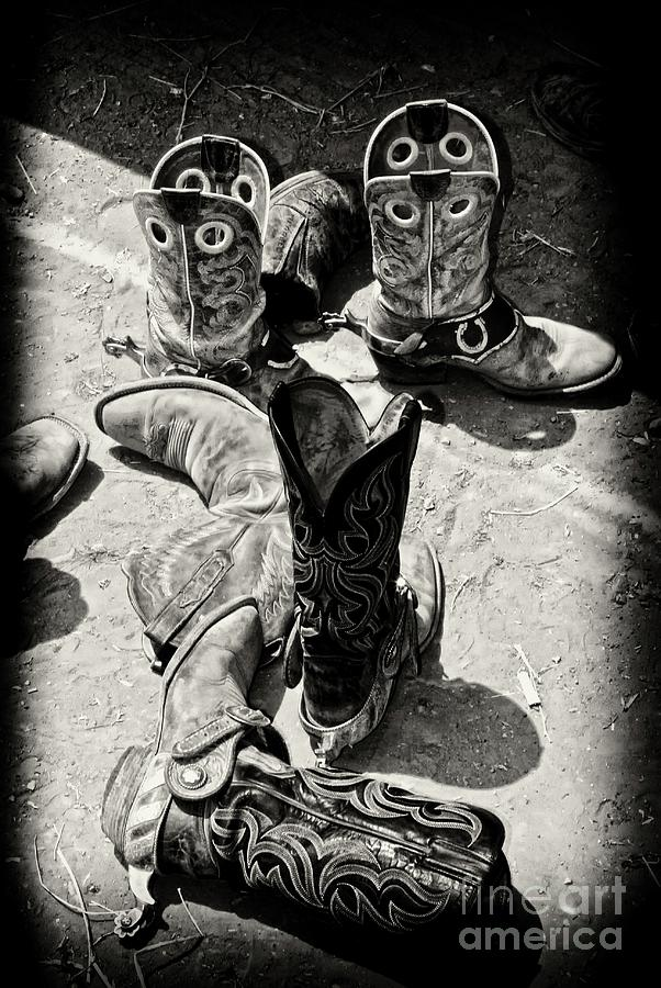 Rodeo Boots And Spurs Photograph  - Rodeo Boots And Spurs Fine Art Print