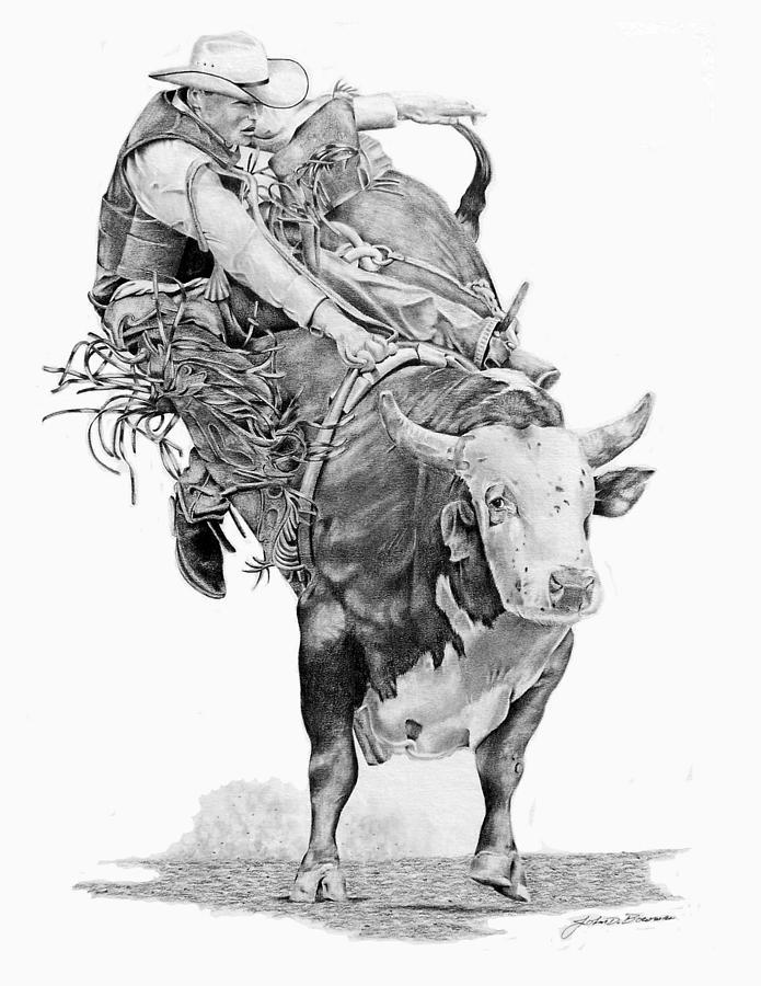 Rodeo Bullrider By John Bowman