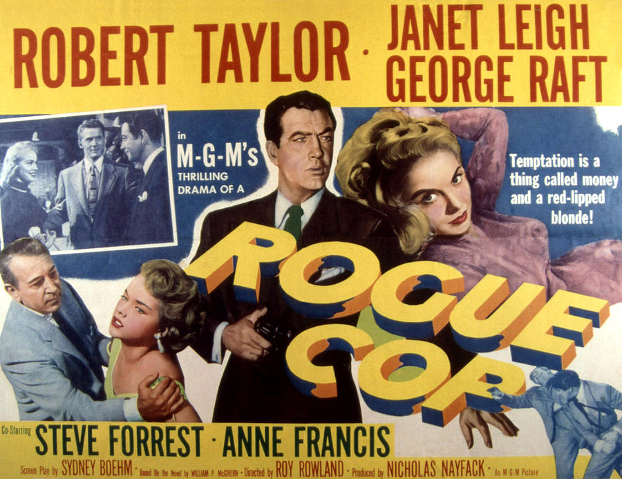 Rogue Cop, George Raft, Anne Francis Photograph  - Rogue Cop, George Raft, Anne Francis Fine Art Print