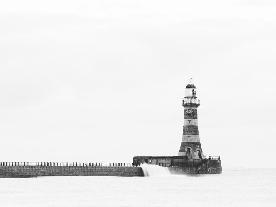 Roker Pier And Lighthouse, Sunderland, Uk Photograph