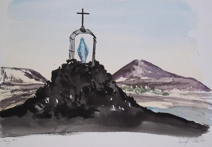 Cage Painting - Roll Cage Mary Of Antarctica by Carolyn Doe