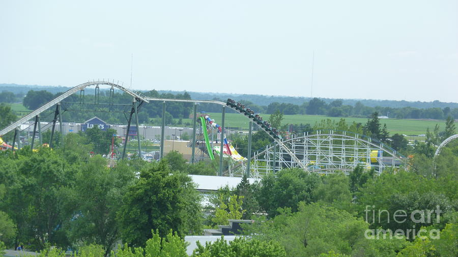 Roller Coaster Skyline Photograph