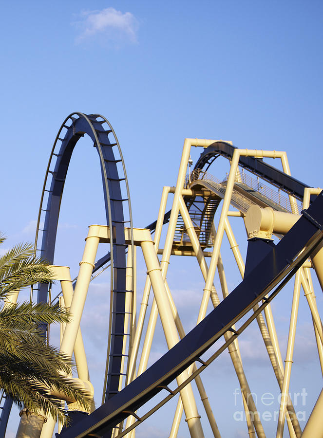 Amusement Park Photograph - Roller Coaster Track by Skip Nall