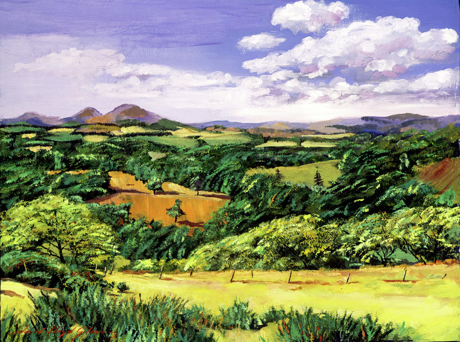 Rolling Hills Of Scotland Painting  - Rolling Hills Of Scotland Fine Art Print