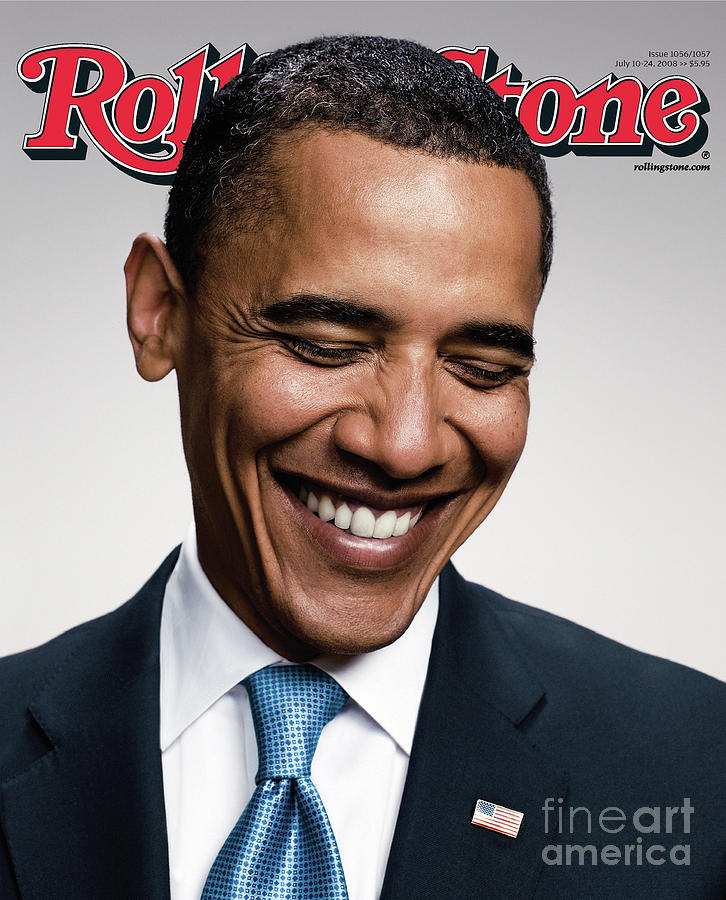 Rolling Stone Cover - Volume #1057 - 7/10/2008 - Barack Obama   Photograph  - Rolling Stone Cover - Volume #1057 - 7/10/2008 - Barack Obama   Fine Art Print