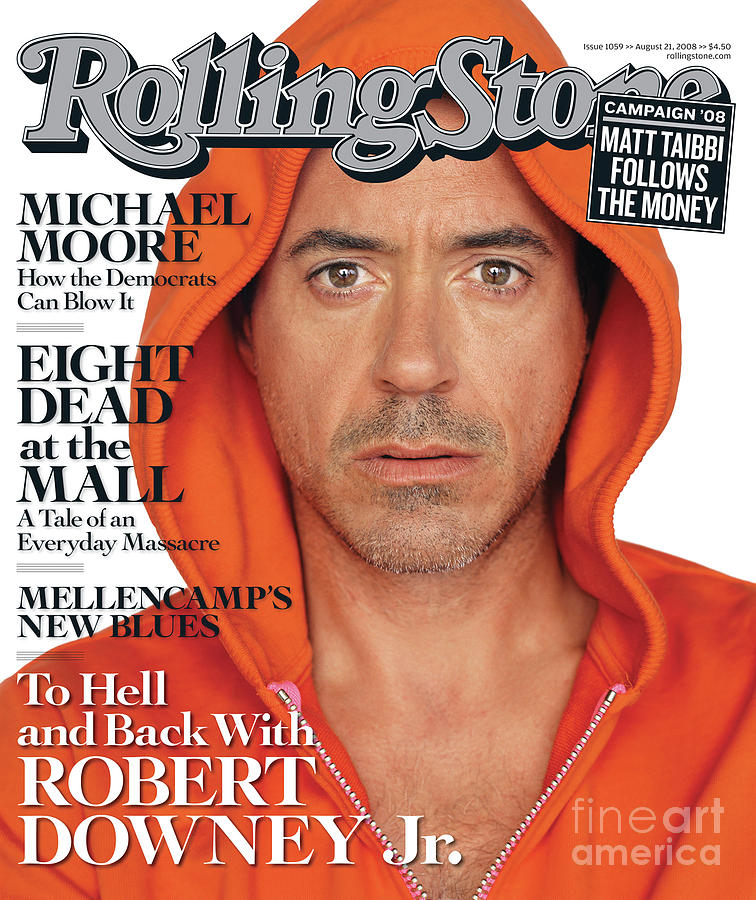 Rolling Stone Cover - Volume #1059 - 8/21/2008 - Robert Downey Jr. Photograph  - Rolling Stone Cover - Volume #1059 - 8/21/2008 - Robert Downey Jr. Fine Art Print