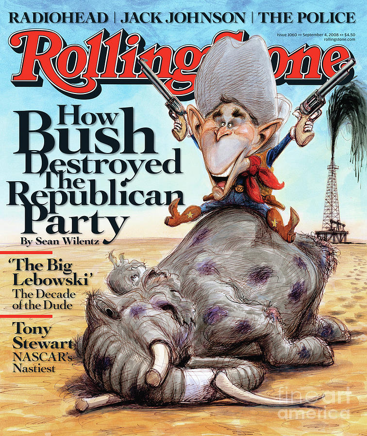 Rolling Stone Cover - Volume #1060 - 9/4/2008 - George W. Bush Photograph  - Rolling Stone Cover - Volume #1060 - 9/4/2008 - George W. Bush Fine Art Print