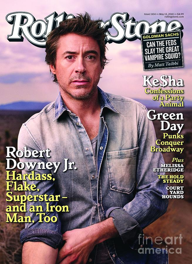 Rolling Stone Cover - Volume #1104 - 5/13/2010 - Robert Downey Jr. Photograph  - Rolling Stone Cover - Volume #1104 - 5/13/2010 - Robert Downey Jr. Fine Art Print