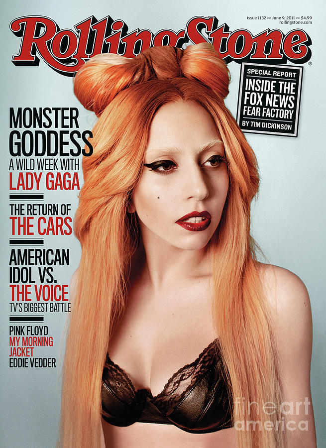 Rolling Stone Cover - Volume #1132 - 6/9/2011 - Lady Gaga Photograph  - Rolling Stone Cover - Volume #1132 - 6/9/2011 - Lady Gaga Fine Art Print