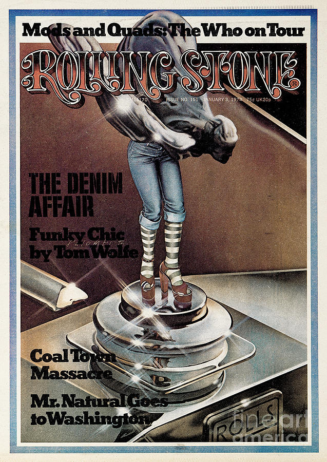 Rolling Stone Cover - Volume #151 - 1/3/1974 - Funky Chic Photograph  - Rolling Stone Cover - Volume #151 - 1/3/1974 - Funky Chic Fine Art Print