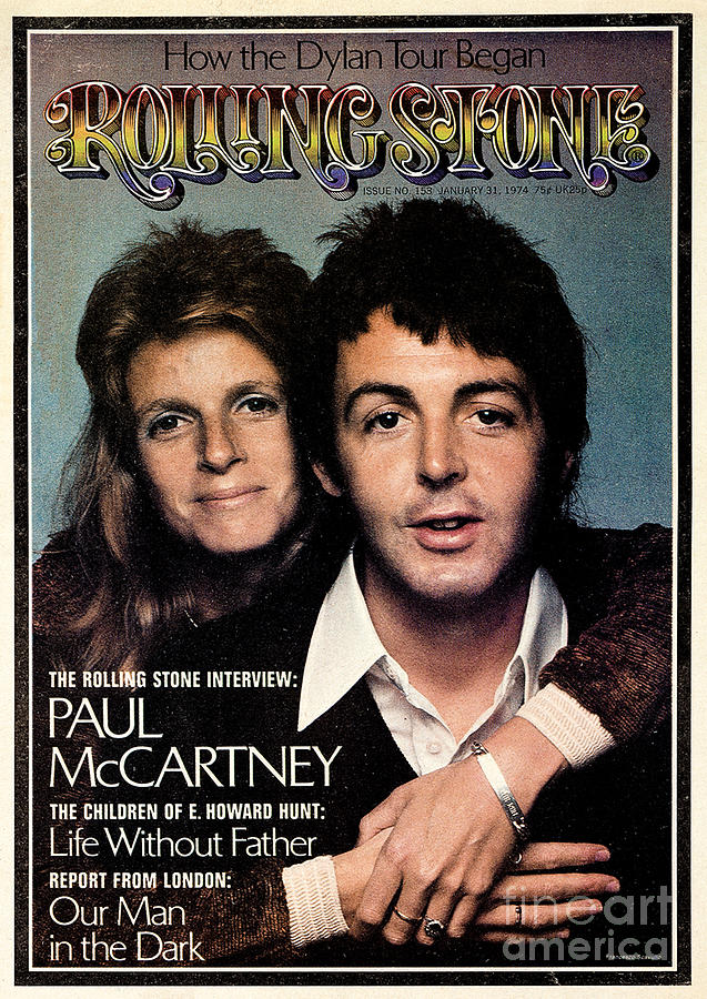 Rolling Stone Cover - Volume #153 - 1/31/1974 - Paul And Linda Mccartney Photograph  - Rolling Stone Cover - Volume #153 - 1/31/1974 - Paul And Linda Mccartney Fine Art Print