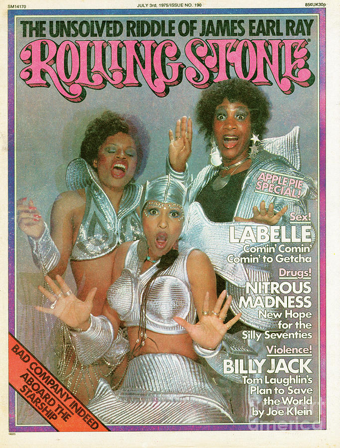 Rolling Stone Cover - Volume #190 - 7/3/1975 - Labelle Photograph  - Rolling Stone Cover - Volume #190 - 7/3/1975 - Labelle Fine Art Print
