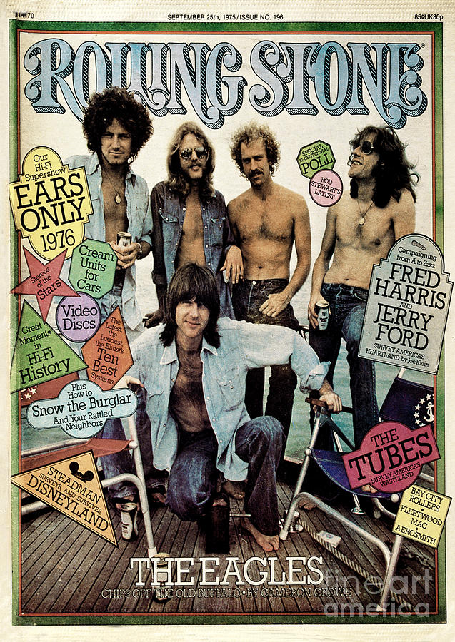 Rolling Stone Cover - Volume #196 - 9/25/1975 - The Eagles Photograph  - Rolling Stone Cover - Volume #196 - 9/25/1975 - The Eagles Fine Art Print