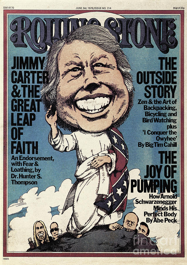Rolling Stone Cover - Volume #214 - 6/3/1976 - Jimmy Carter Photograph  - Rolling Stone Cover - Volume #214 - 6/3/1976 - Jimmy Carter Fine Art Print