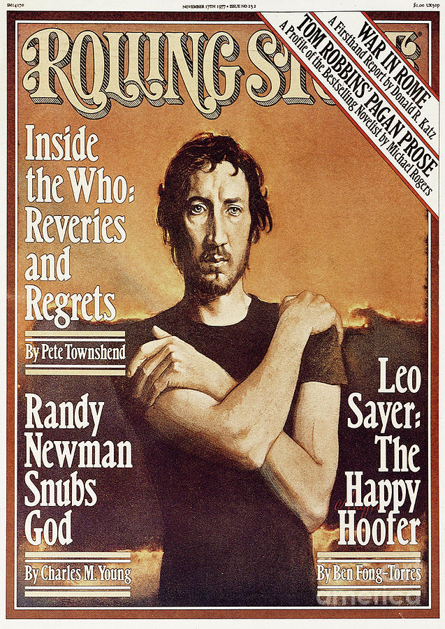 Rolling Stone Cover - Volume #252 - 11/17/1977 - Pete Townshend Photograph  - Rolling Stone Cover - Volume #252 - 11/17/1977 - Pete Townshend Fine Art Print