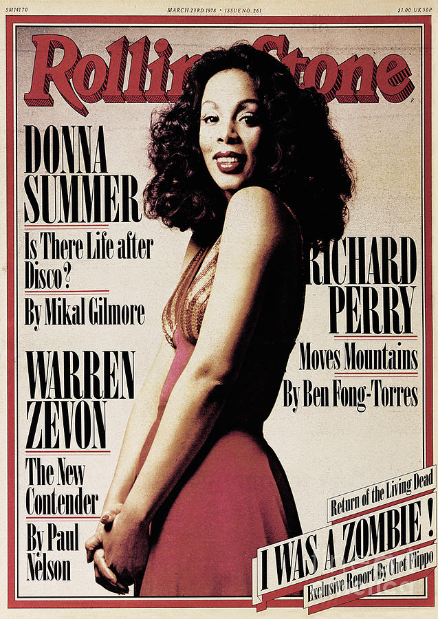 Rolling Stone Cover - Volume #261 - 3/23/1978 - Donna Summer Photograph  - Rolling Stone Cover - Volume #261 - 3/23/1978 - Donna Summer Fine Art Print