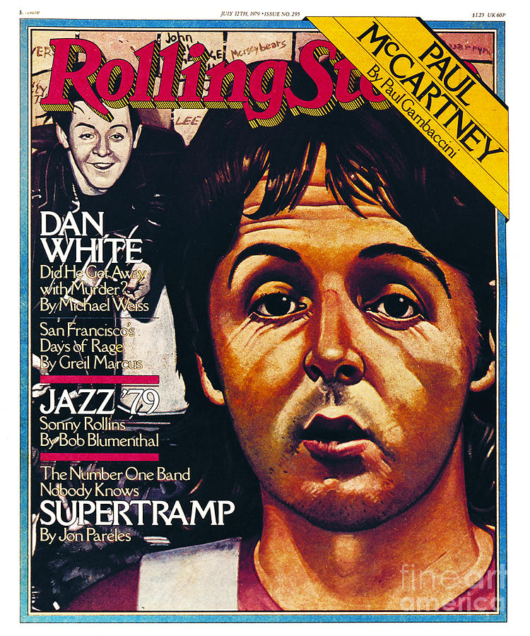 Rolling Stone Cover - Volume #295 - 7/12/1979 - Paul Mccartney Photograph  - Rolling Stone Cover - Volume #295 - 7/12/1979 - Paul Mccartney Fine Art Print