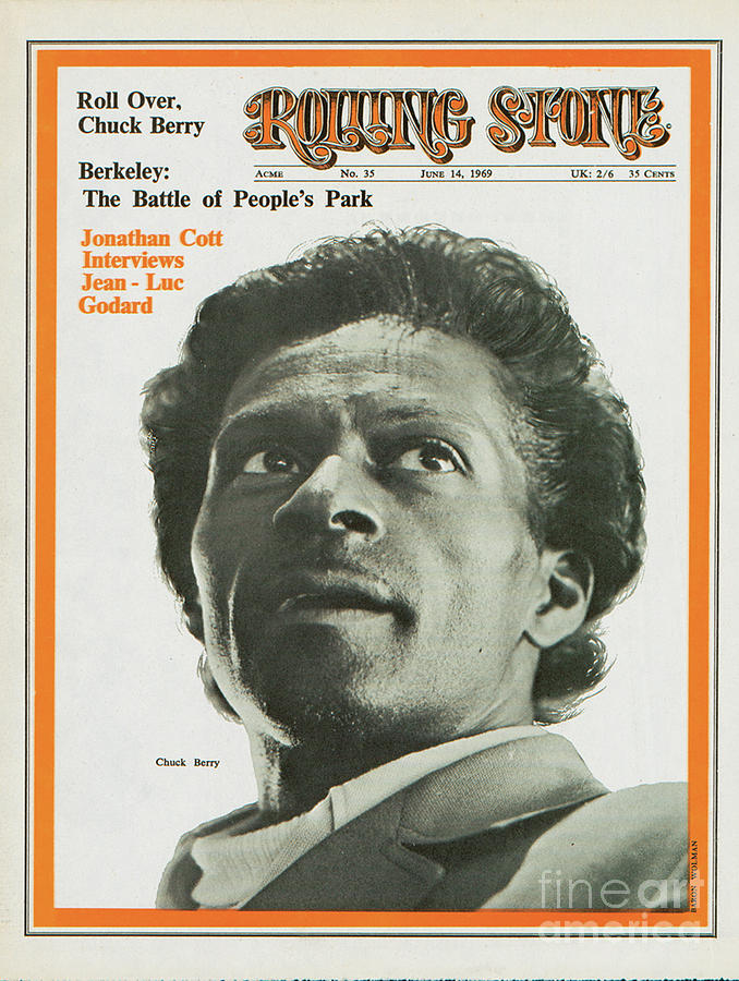 Rolling Stone Cover - Volume #35 - 6/14/1969 - Chuck Berry Photograph  - Rolling Stone Cover - Volume #35 - 6/14/1969 - Chuck Berry Fine Art Print