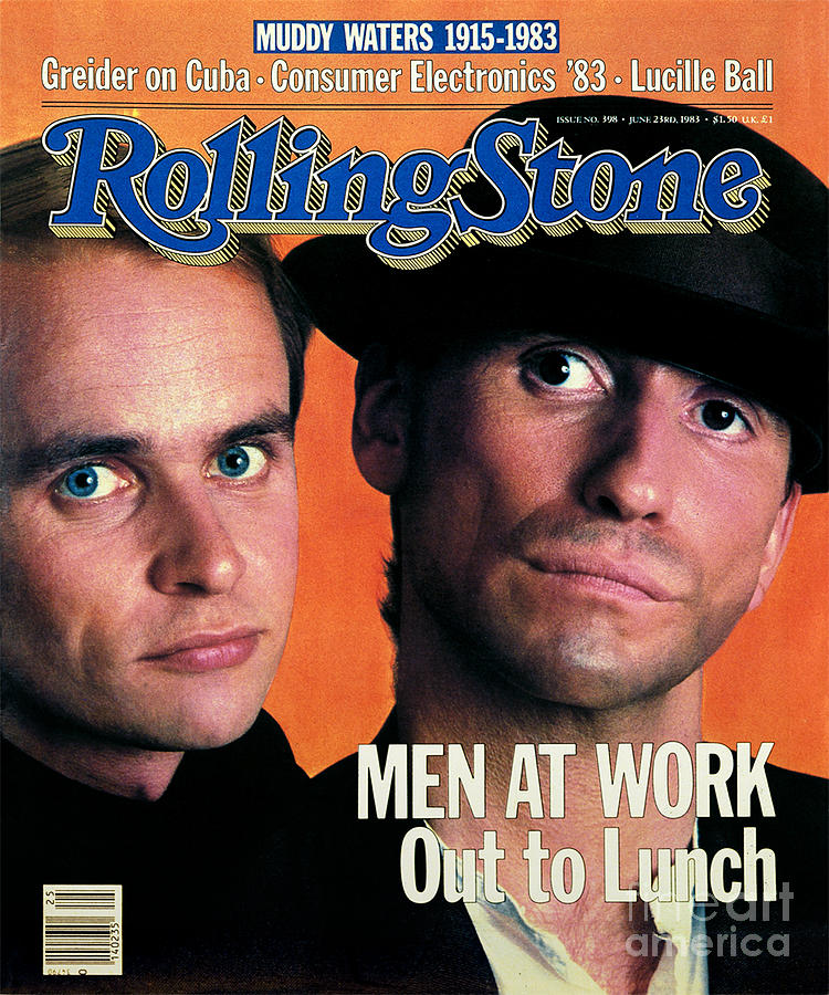 Rolling Stone Cover - Volume #398 - 6/24/1983 - Men At Work Photograph  - Rolling Stone Cover - Volume #398 - 6/24/1983 - Men At Work Fine Art Print