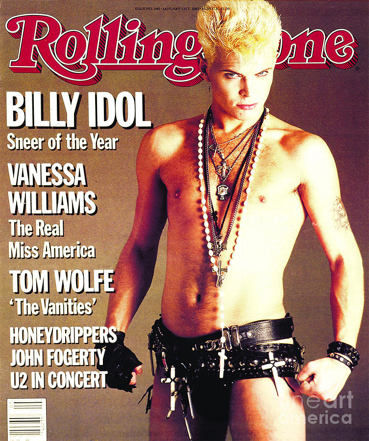 Rolling Stone Cover - Volume #440 - 1/31/1985 - Billy Idol Photograph  - Rolling Stone Cover - Volume #440 - 1/31/1985 - Billy Idol Fine Art Print